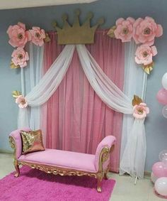 Friendly enhanced quinceanera party themes Reserve Your Spot Princess Theme, Baby Shower Princess, Baby Princess, Pink Princess Party, Party Kulissen, Shower Party, Baby Shower Parties, Party Ideas, Party Themes