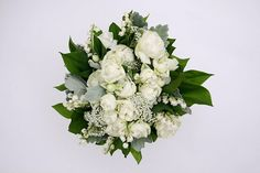 Lily-of-the-valley and Rose Bouqeut (on white) by Kei's Flower, via Flickr