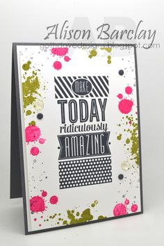 Gothdove Designs - Alison Barclay - Stampin' Up! Australia - Use Amazing Birthday and Gorgeous Grunge to create this fun modern card #stampinup #colorcoach