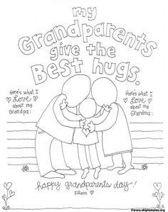 Free Printable Granparent Coloring Page #print  www.skiptomylou.org
