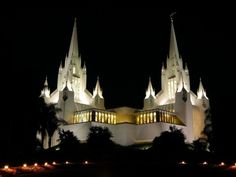 San Diego Temple: Where I'll be married for all time abd eternity some day.