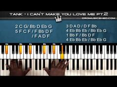 """(115) How to play Tank """"I Can't Make You Love Me"""" (Part 2) (Piano Tutorial) (Piano Cover) - YouTube"""