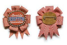 PRIZE-RIBBON-BROOCH by the amazing Cathe Holden at just something i made // escarapela broche