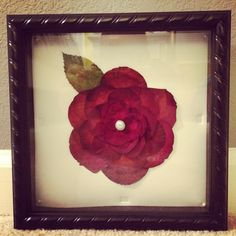He saved the rose he gave me on Valentine's Day and dried it without telling me :) I finally put the petals in a shadowbox last week.
