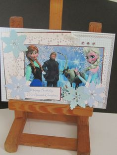 Stunning handmade Disney Frozen Birthday card perfect for any Princess