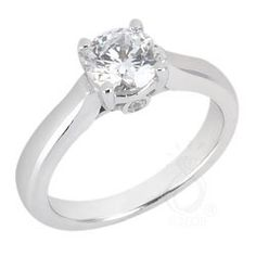 Cathedral Engagement Ring With Bezel Set Side Stones-Style 9942
