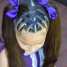 Best Picture For toddler hairstyles girl thin For Your Taste You are looking for something, and it i Easy Toddler Hairstyles, Easy Little Girl Hairstyles, Baby Girl Hairstyles, Kids Braided Hairstyles, Toddler Hair Dos, Black Hairstyles, Hairstyle For Kids, Toddler Girls Hairstyles, Children Hairstyles
