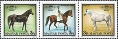 #3171 Hungary - Stud Farm at Bábolna, Horses, Strip of 3 (MNH)
