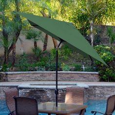 Jeco 6.5 x 10 ft. Aluminum Patio Market Umbrella with Tilt and Crank