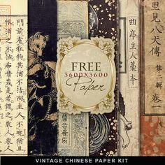 Papel chino antiguo Freebies