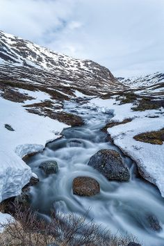 Ice Water Flowing Down The Jotunheimen National Park Jotunheimen National Park, Norway Viking, Scandinavian Countries, Travel Scandinavia, Water Flow, North Sea, Beautiful Places In The World, Waterfalls, Troll