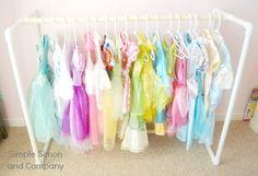 DIY PVC Pipe Princess Dress Rack-A How To - Simple Simon and Company
