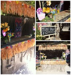 tiki bar, Hawaiian luau, diy, Popular with the Poplins