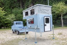 Truck Camper, Camper Van, Van Dwelling, Food Trailer, Mini Trucks, Camping Survival, Mobile Home, Retro Futurism, Van Life