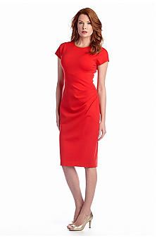 221ce8697f Anne Klein Side Drape Midi Sheath Dress