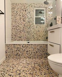 Terrazzo, Tile Floor, Bathrooms, Flooring, Kitchen, Instagram, Cooking, Bathroom, Full Bath