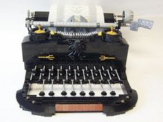 Vintage typewriter entirely from Legos.  Not sure why I'm pinning all these Lego creations except that I love that there are people who do this.