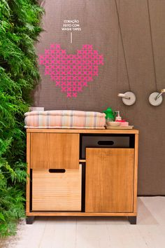 washi tape heart #loveit #decor #DIY
