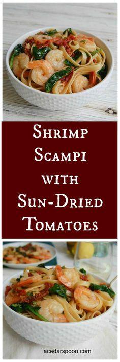 Shrimp Scampi with Sun-Dried Tomatoes // A Cedar Spoon