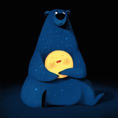 Adorable Illustration by .⠀ We love the cute illustrations by Russian artist Lana Zorina. Constellation, Big Dipper, Grid Design, Graphic Design, Children's Book Illustration, Animal Illustrations, Cute Drawings, Cute Art, Amazing Art