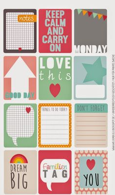 Free printable... Journal cards Willi & Lilli