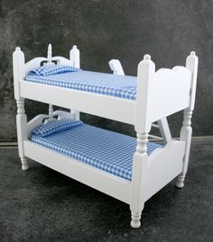 12 Bedroom Furniture White Wooden Blue Gingham Bunk Beds Ebay | Discount…