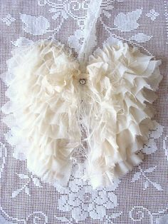 Shabby+Fabric+Angel+Wings+French+Country+Cottage+by+ShabbySoul,+$30.00