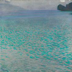 Attersee, 1901, Gustav Klimt .