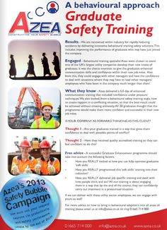 Azea Behavioural Safety Training | Reducing Accidents in the Workplace - Graduate Safety Training - http://www.azea.co.uk