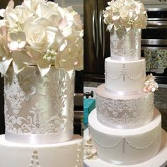 Drop Dead Gorgeous Wedding Cake Ideas. To see more: http://www.modwedding.com/2014/04/07/drop-dead-gorgeous-wedding-cake-ideas/ #wedding #weddings #cake Featured wedding cake: Sugar Art By Susan