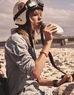 Vogue Paris March 2017 Edie Campbell by Mikael Jansson