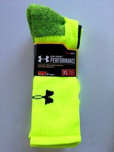 Under Armour Heat Gear Performance Socks 3 Pack UA Men's Size XL New | eBay