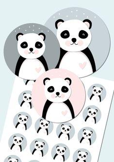 """Tiere - """"Bär"""" Aufkleber/Sticker/Etiketten für Kinder - ein Designerstück von mollyanddolly bei DaWanda"""