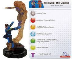 Nightwing and Starfire #058 Crisis DC Heroclix - DC: Crisis - Heroclix