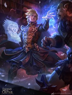 ArtStation - Owner of Old Grimoire Store ADV, Eric Guerrero Dungeons And Dragons Characters, Dnd Characters, Fantasy Characters, Fantasy Character Design, Character Concept, Character Art, Fantasy Wizard, Fantasy Warrior, Dark Fantasy Art