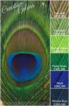 Kleurinspiratie – Peacock Palette – Creative Colors - The Purple Poncho Yarn Color Combinations, Color Schemes Colour Palettes, Colour Pallette, Color Palate, Peacock Color Scheme, Peacock Colors, Peacock Feathers, Palette Design, Decoration Palette