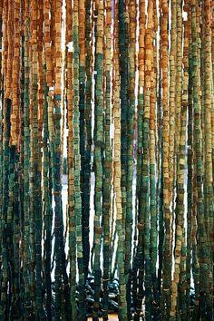 cortina con tapones de corcho