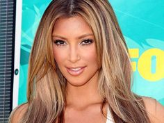 Caramel Hair Color with Blonde Highlights