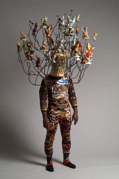 """My work, clothing and fiber-based sculptures, collages, installations, and performances, explore the use of textiles and clothing as conceptual modes of expression and pose fundamental questions about the human condition in the social and political realm…"" Nick Cave"