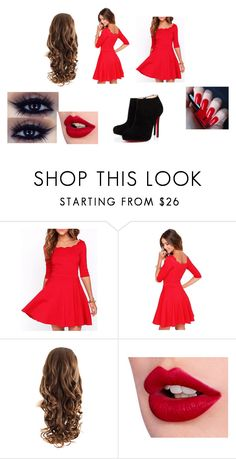 """""""Emma."""" by carol-263 ❤ liked on Polyvore featuring Charlotte Tilbury, H&M and Christian Louboutin"""