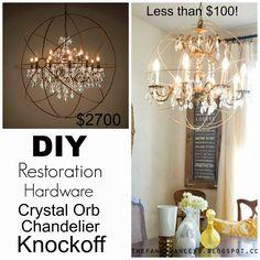 DIY Restoration Hardware Crystal Orb Chandelier Knockoff Tutorial | Verified Mom | Verified Mom