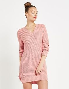 An enviable collection of women's clothing and accessories from Lipsy London. Pastel Roses, Jumper Dress, Summer Colors, Lipsy, Boohoo, V Neck, Clothes For Women, Knitting, Sweaters
