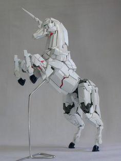 Mecha unicorn - the rarest type of unicorn of all. (remixed Gundam parts, originally I saw this on Kotaku.com).