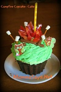 """Campfire Cupcakes and Cake how to make the edible """"flames"""""""