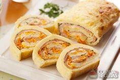 Receita de Rocambole de arroz com presunto e queijo em receitas de arroz, veja essa e outras receitas aqui!