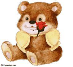 Oso con camiseta I Love You #amor #love #i_love_you #te_quiero #te_amo