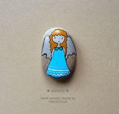 Anioły stróże #unicatella #angel #paintedstones #paintedrock #kamieniemalowane