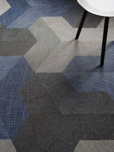 Wing carpet tile by bolon studio - 'wing' is a flooring tile that allows architects and designers to combine several of the bolon's collections and elevate them to a new level. wing,  which is part of bolon studio™, facilitates new dimensions for interior design environments.