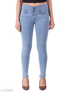 Jeans Trendy Poly Cotton Women's Jeans Fabric: Poly Cotton