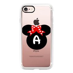 Minnie Mouse Initial Monogram A - iPhone 7 Case, iPhone 7 Plus Case,... (54 CAD) ❤ liked on Polyvore featuring accessories, tech accessories, iphone case, slim iphone case, iphone cover case, iphone cases, monogram iphone case and apple iphone case